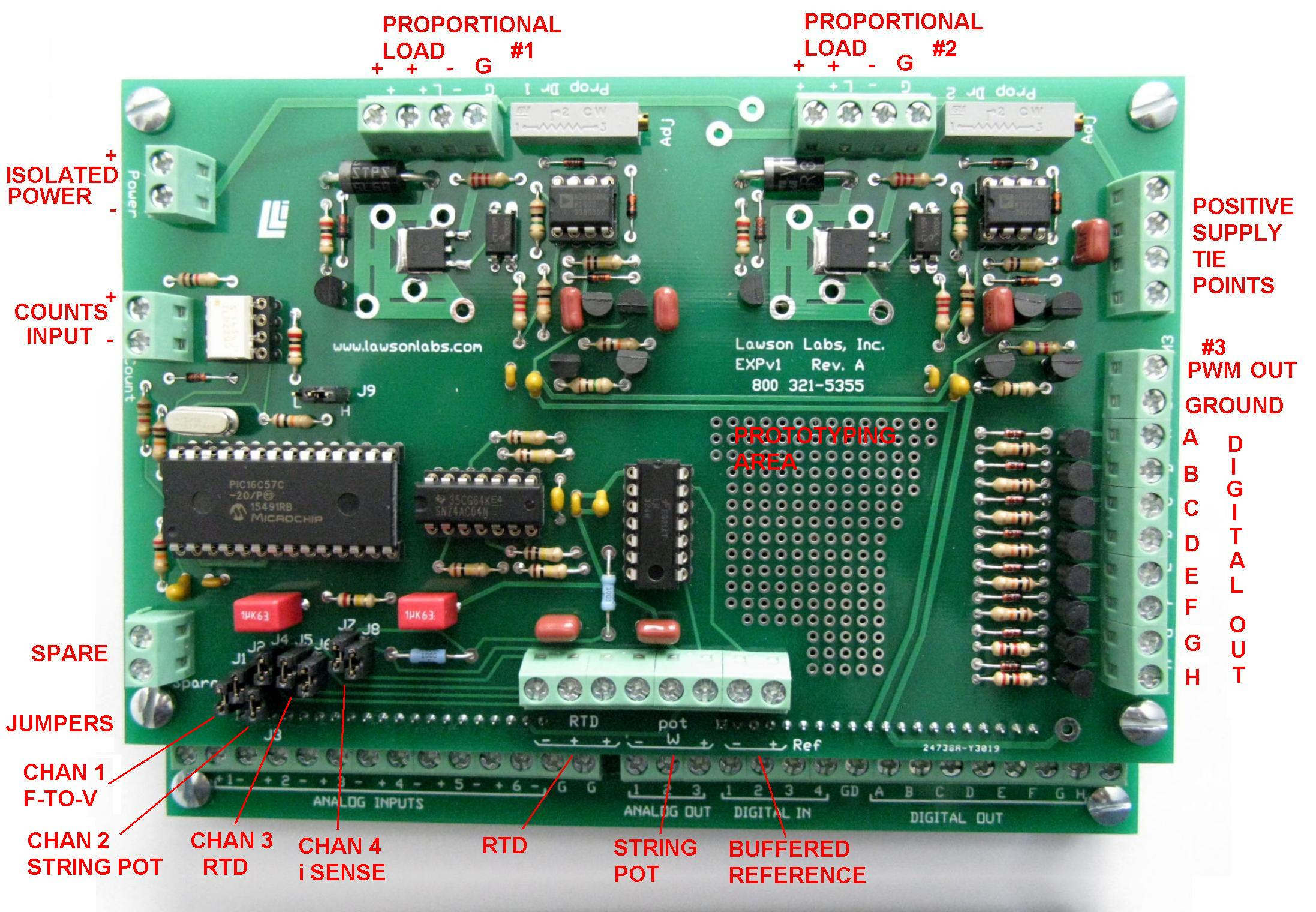 Model 302 Expv1 Stacking Process Control Expansion Board Labeled Motherboard Diagram Connection